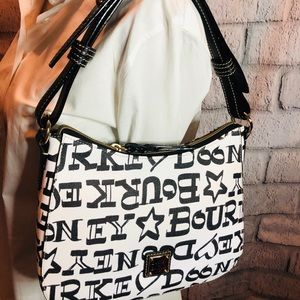 Dooney and Bourke black and white pretty purse